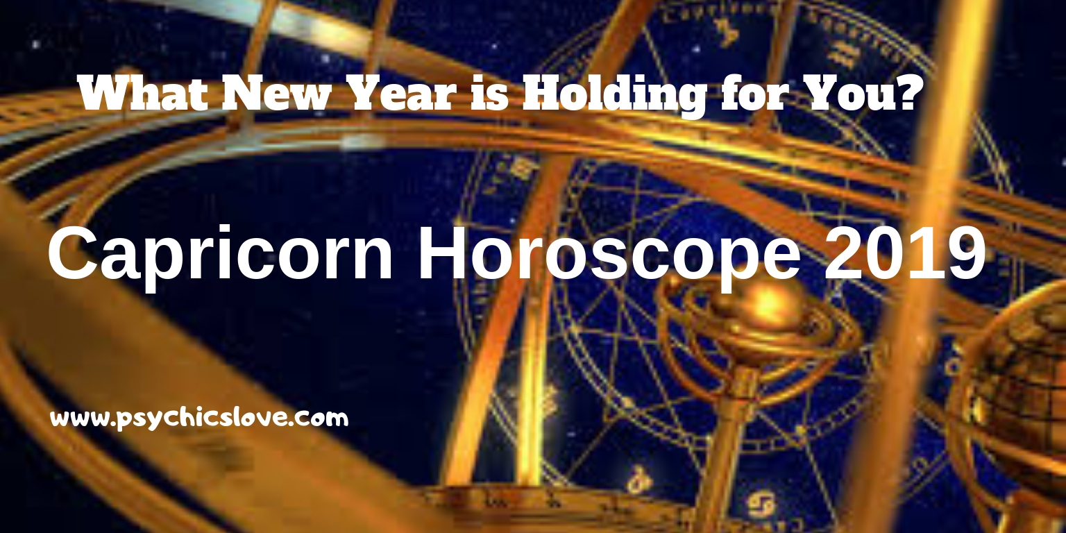 Capricorn Horoscope 2019